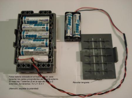 Bateria NXT - conexion